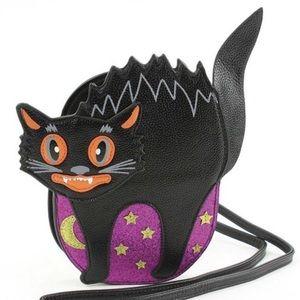 New Halloween goth scaredy cat handbag